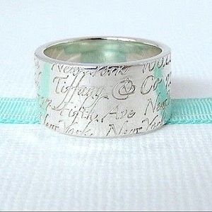 RARE Tiffany & Co. Love Notes WIDE Ring sz 7